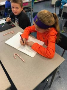 candy cane writing