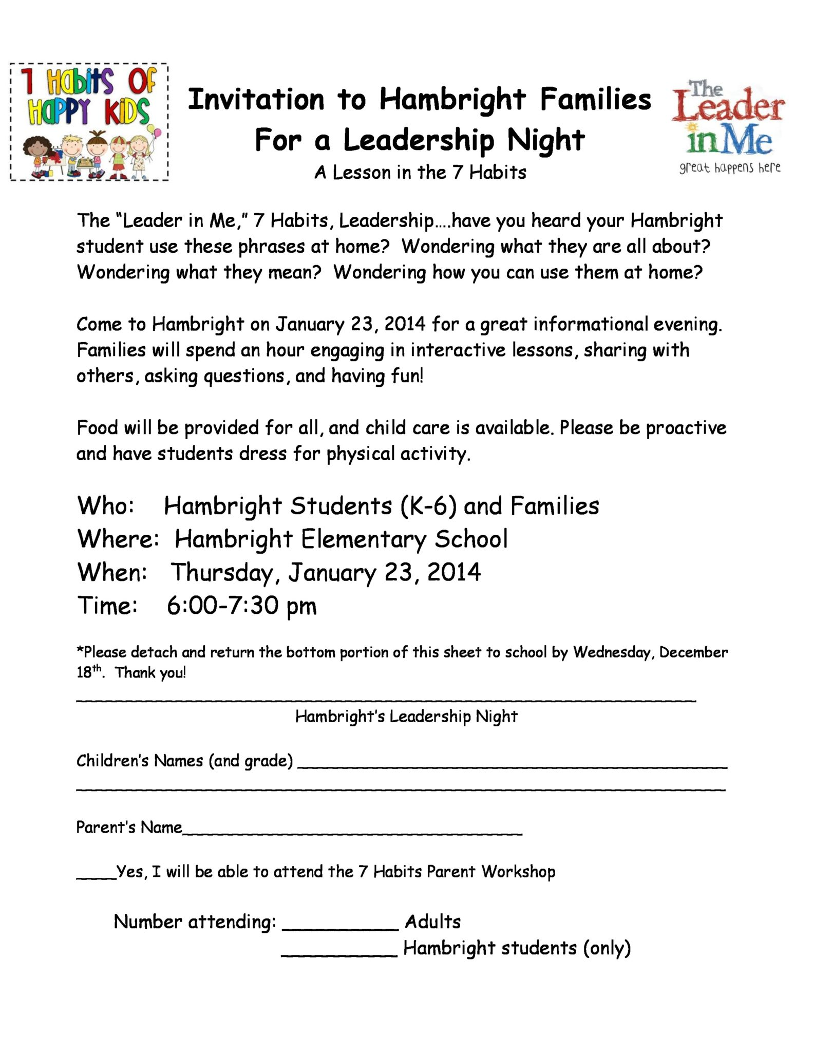 Hambright Leadership Night