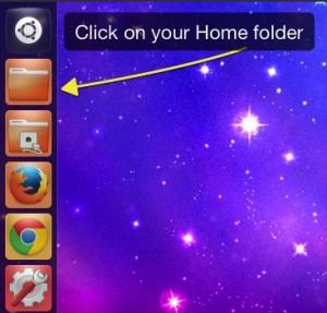 Click the Home folder icon