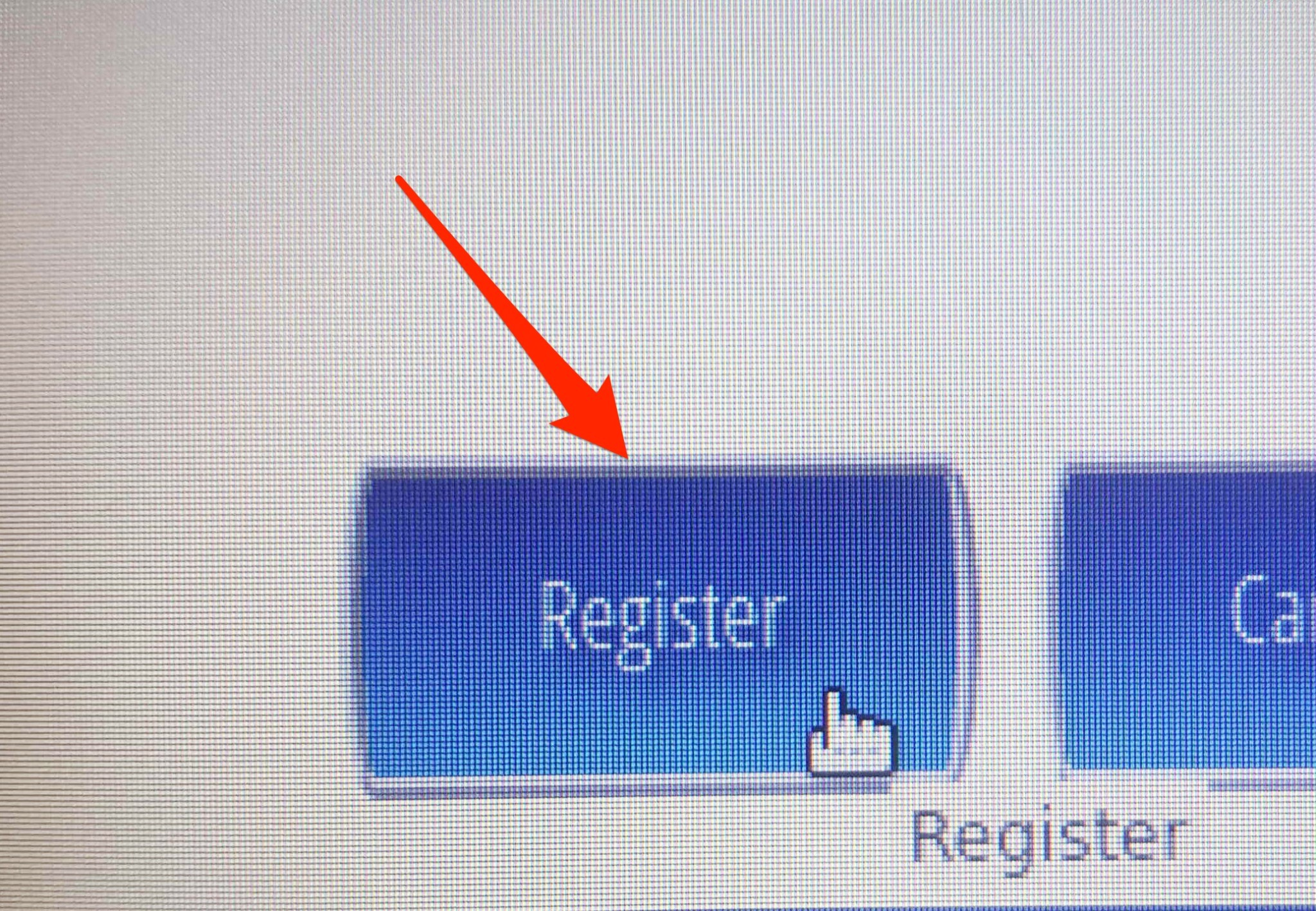 Click on Register button.
