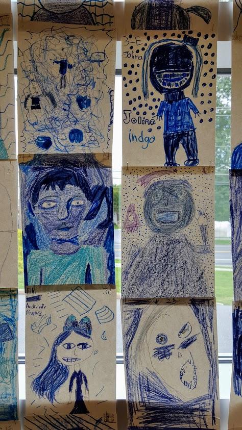 Indigo portraits