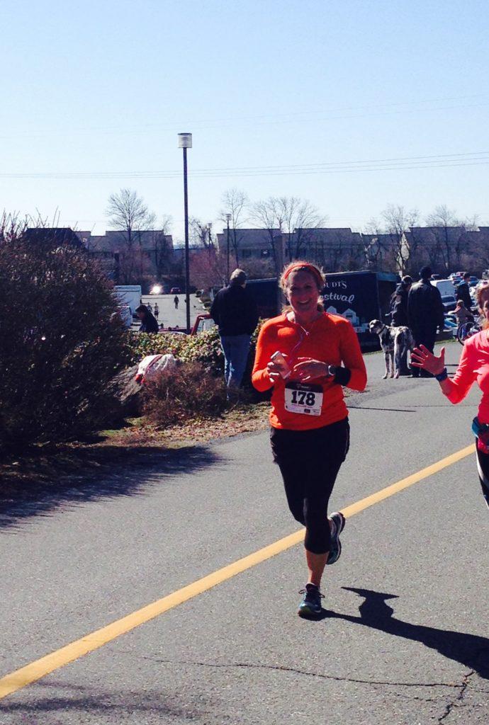 Mrs. Stephan running a half marathon