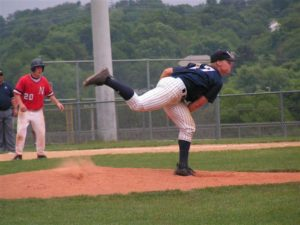 Josh Squatrito delivers a pitch in the state quarter-final against Neshaminy.