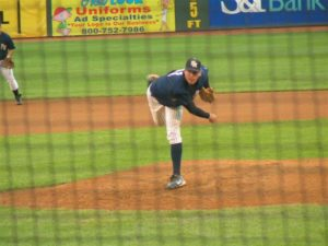 Jared Yecker delivers a pitch during the 2005 State Championship game against State College.