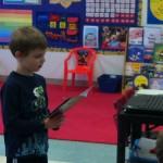 Evan reading fluently