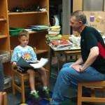 Lucas reads to Celeste's dad